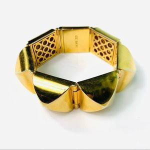 CC SKYE Gold Pyramid 18k Coated Bracelet Cuff